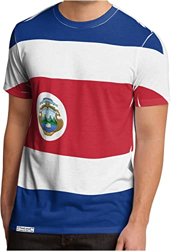 Costa Rica Country Flag Printed Shortsleeve Tee