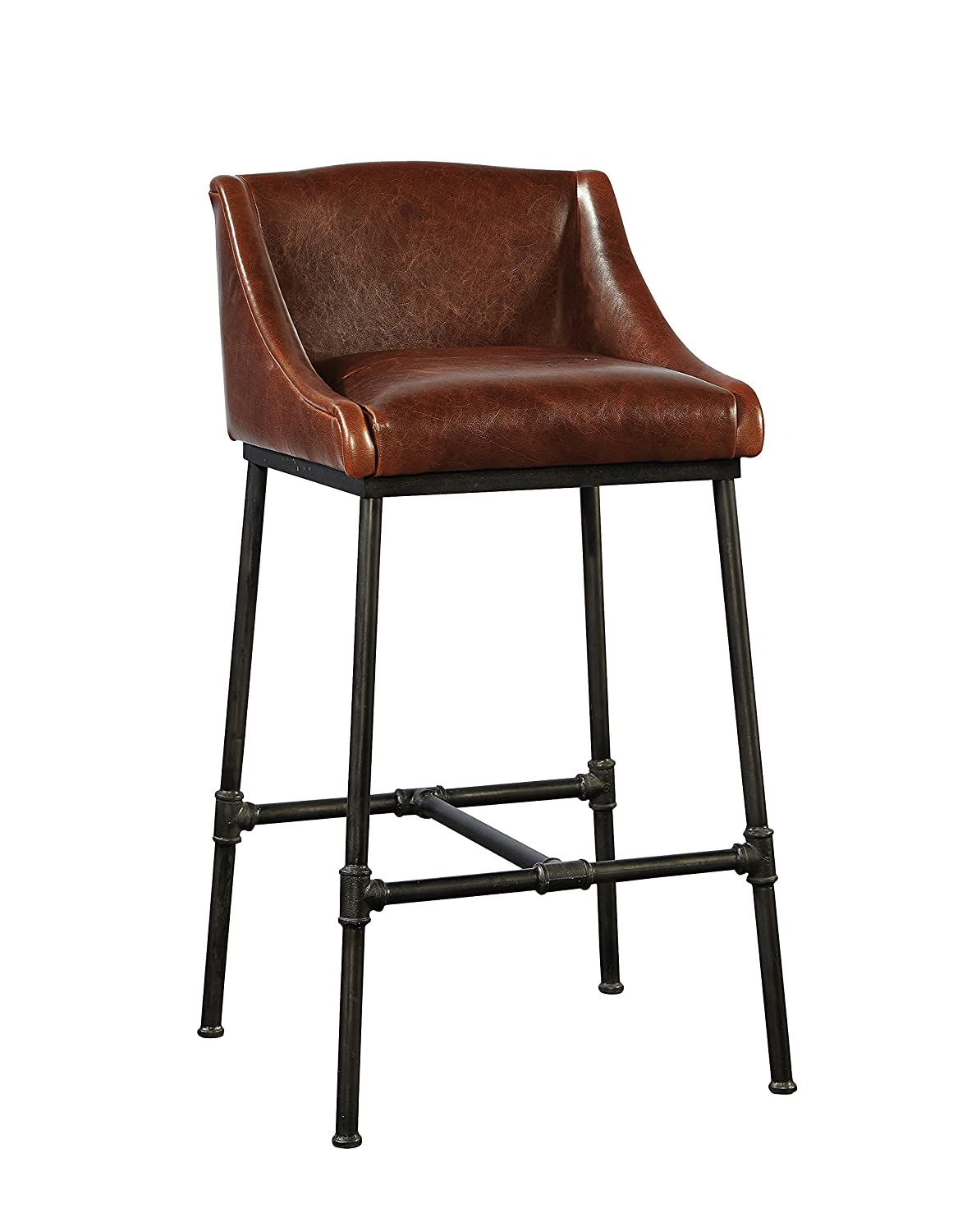 Fine Amazon Com Sloane Elliot Se0039 Harvey Leather Bar Stool Gmtry Best Dining Table And Chair Ideas Images Gmtryco