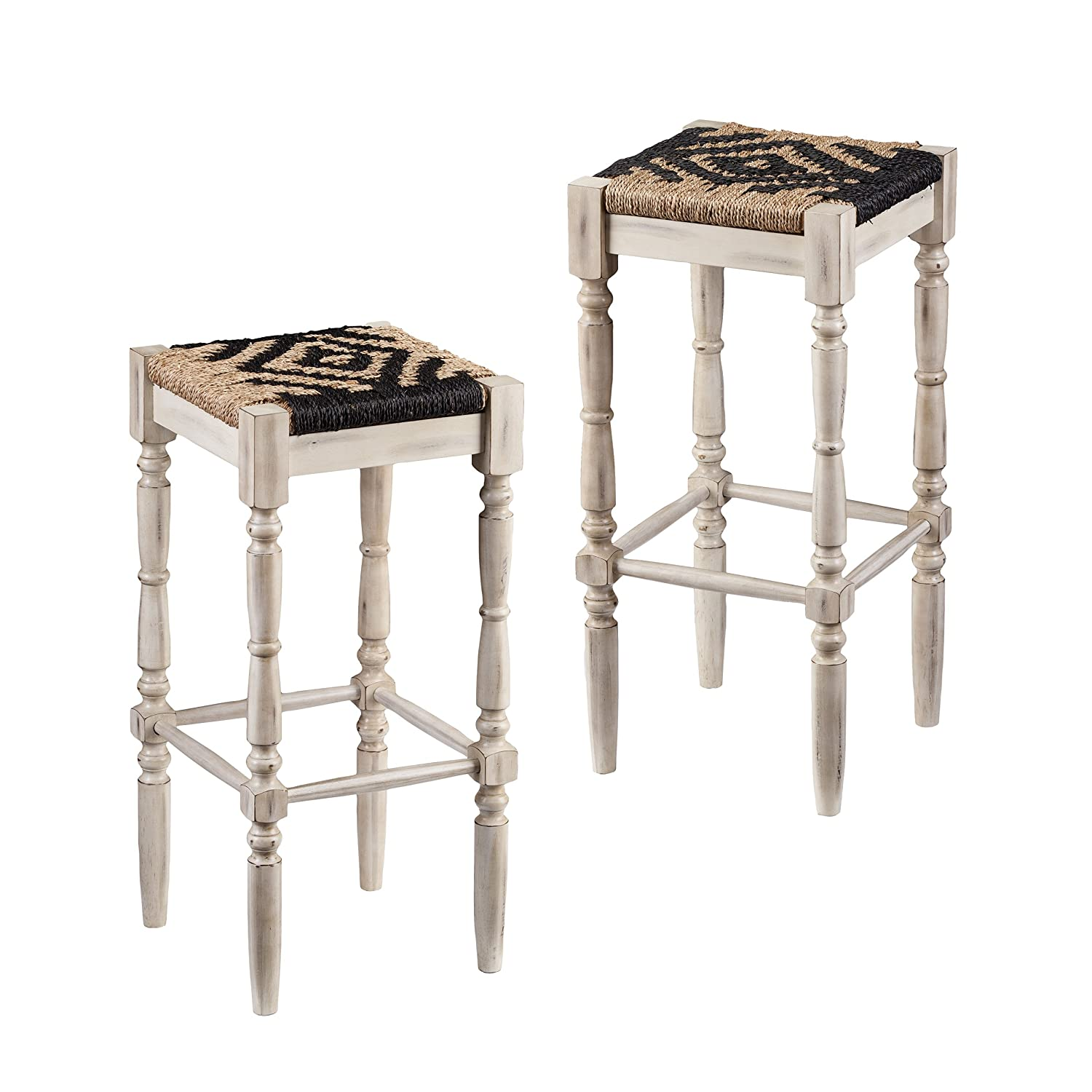 Amazoncom Furniture Hotspot 30 Inch Bar Stools Backless Hyacinth