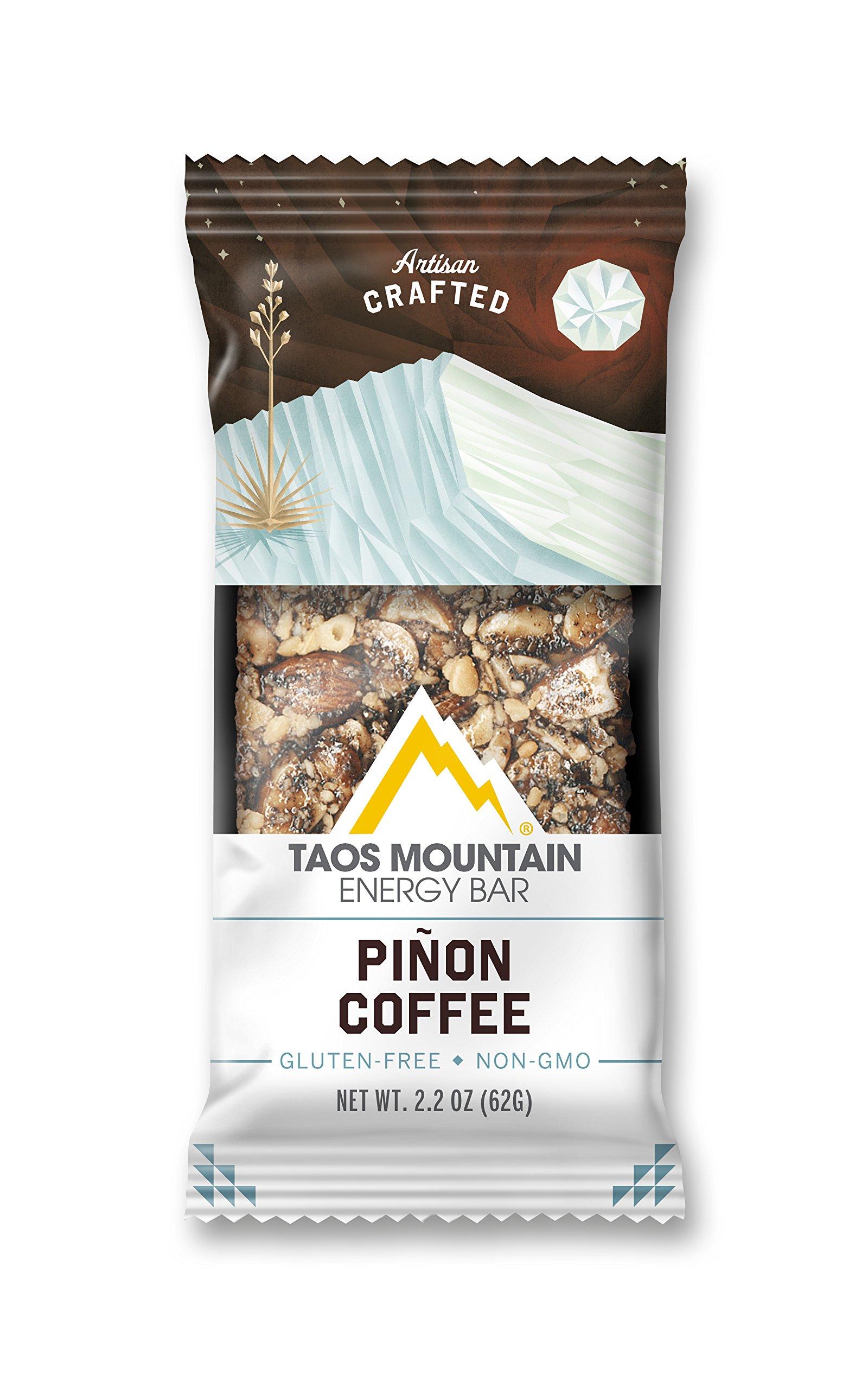 Taos Mountain Energy Bar - Pinon Coffee (2.2 Ounce, 6 Count)