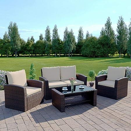 Abreo Nuevo ratán Mimbre Weave Muebles de jardín Patio jardín de Invierno, 2 o 3 Plazas Sofá Conjuntos: Amazon.es: Hogar