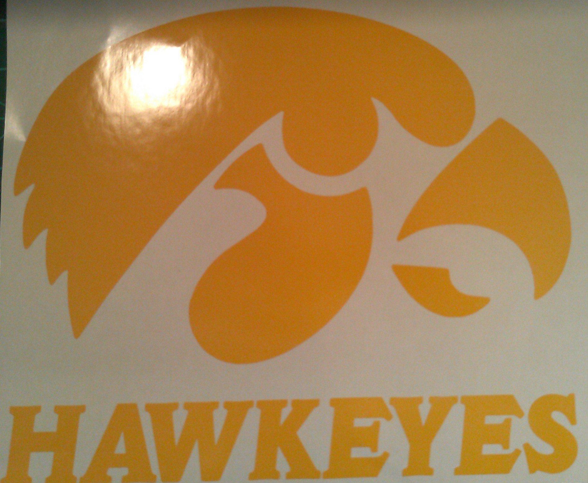 Iowa State Hawkeyes Cornhole Decals - 2 Cornhole Decals