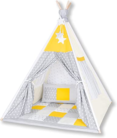 Amilian Tipi Spielzelt Zelt für Kinder T10 Spielzelt