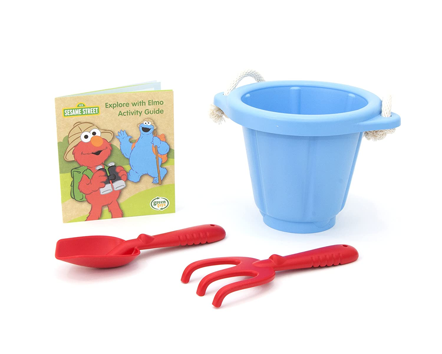 Green Toys Sesame Street Elmo Explores Outdoor Activity Set