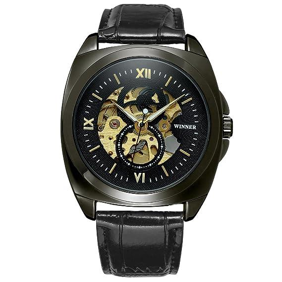 Ganador Militar Casual diseño relojes hombres marca de lujo reloj automático reloj de esqueleto hombre reloj de pulsera Hombres mecánicos: Amazon.es: ...