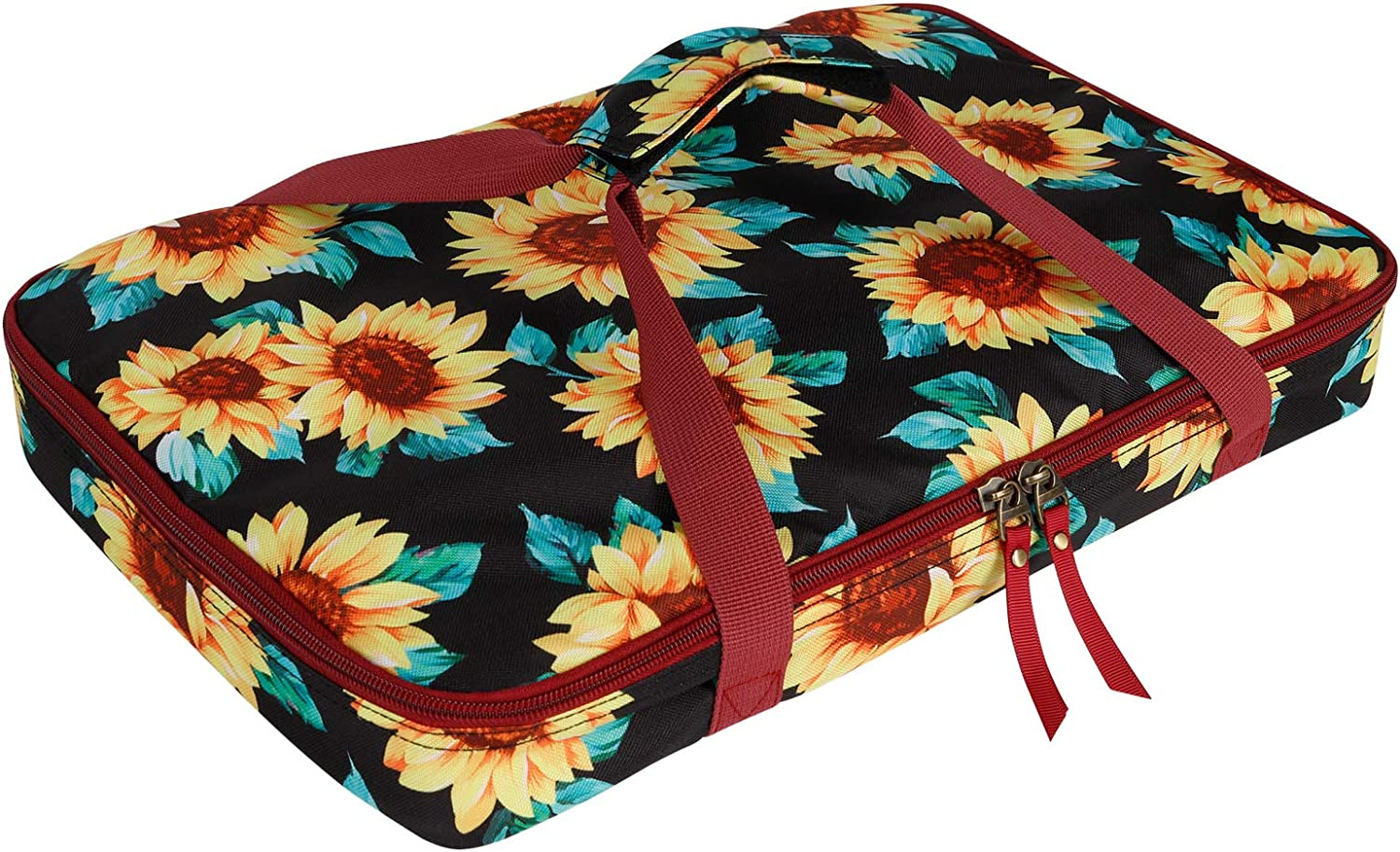 Natur@cho Insulated Casserole Travel Lunch Carry Bag, Thermal Food Lasagna Lugger Tote Carrier for Potluck Parties, Picnic, Beach Cookout Fits 9 x 13 Inches Casserole Dish