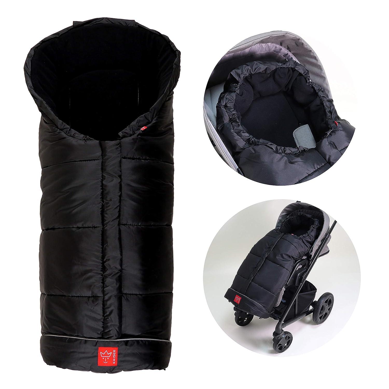 Kaiser Naturfelle 6570825 Fußsack Iglu Thermo Fleece Farbe Schwarz Baby