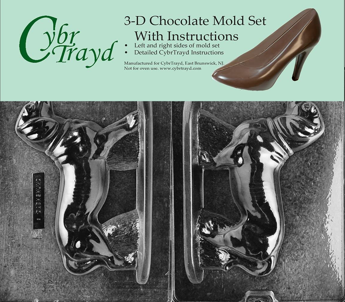 Cybrtrayd DOG008AB Dachshund Chocolate Candy Mold Bundle with 2 Molds and Exclusive Copyrighted 3D Chocolate Molding Instructions