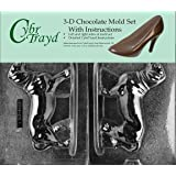 Cybrtrayd DOG008AB Chocolate Candy Mold, Includes 3D Chocolate Molds Instructions and 2-Mold Kit, Dachshund