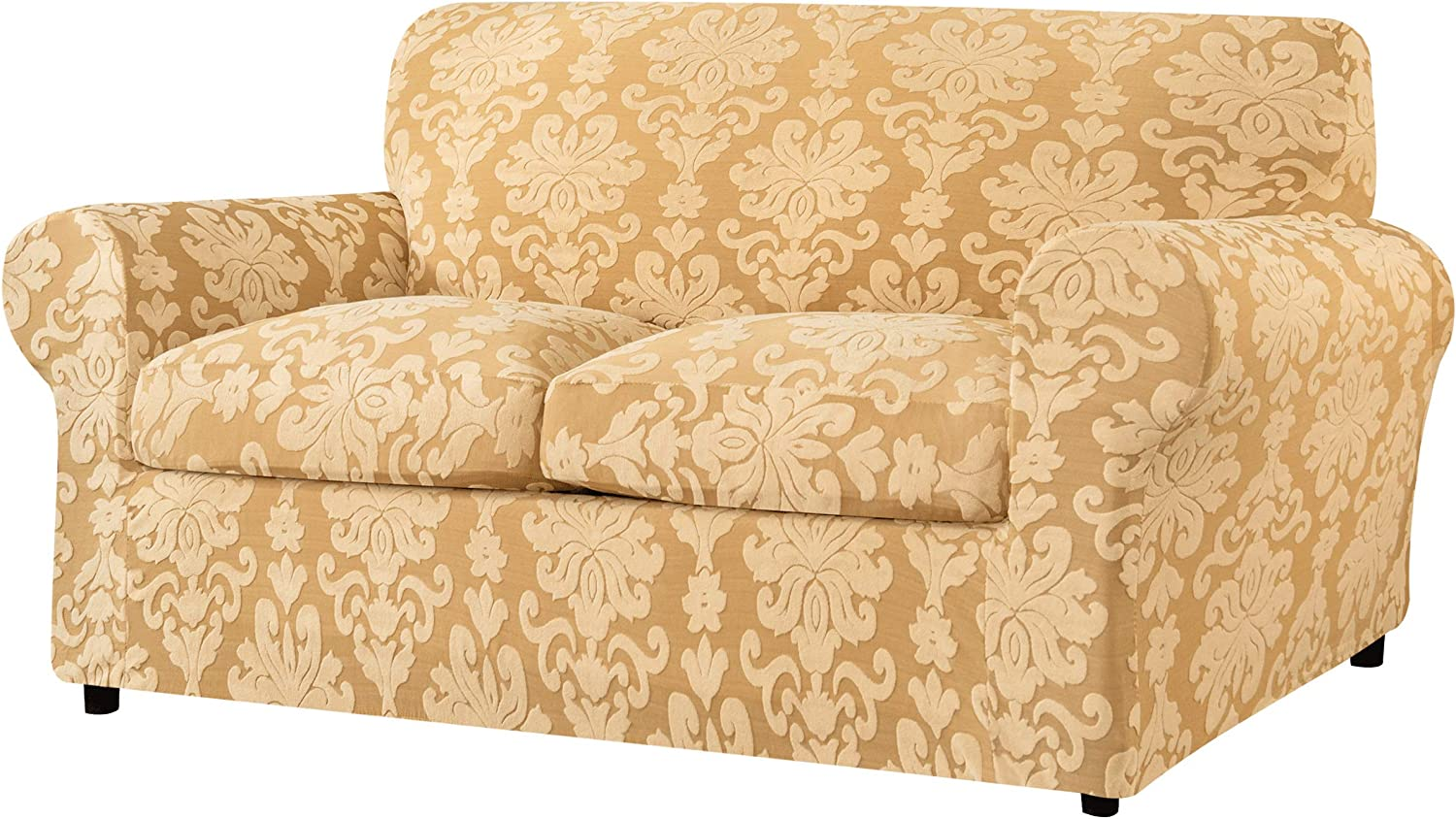 Blue Vintage Floral Damask Pattern Sofa Couch Cover Slipcover