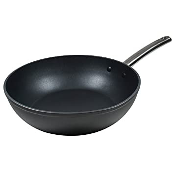 MasterPro Foodies Sartén Wok, Aluminio Forjado, Negro, 28 cm: Amazon.es: Hogar