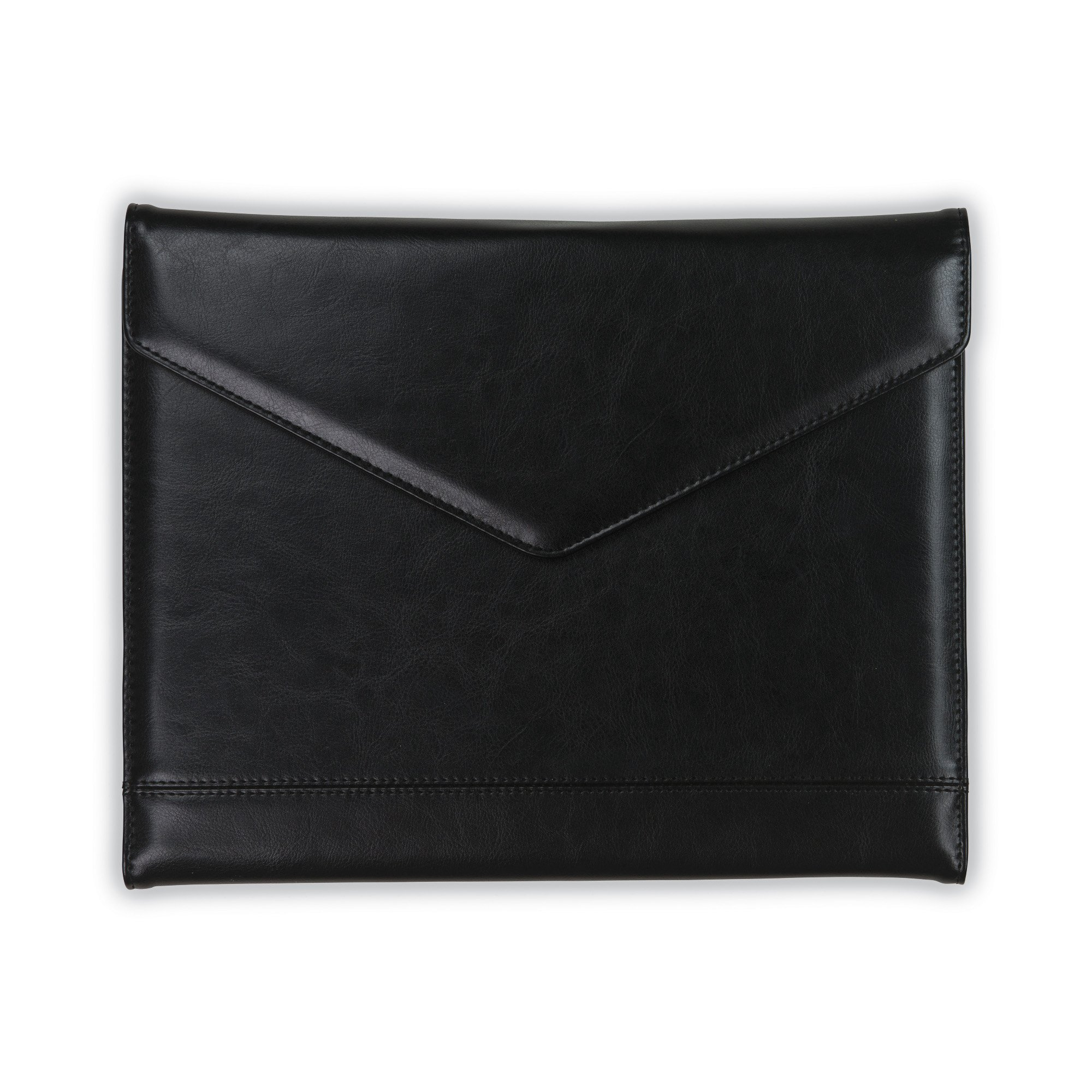 Samsill Envelope Style Trifold Padfolio for Women – Resume Portfolio/Business Portfolio with Magnetic Closure (Black, Letter Size)