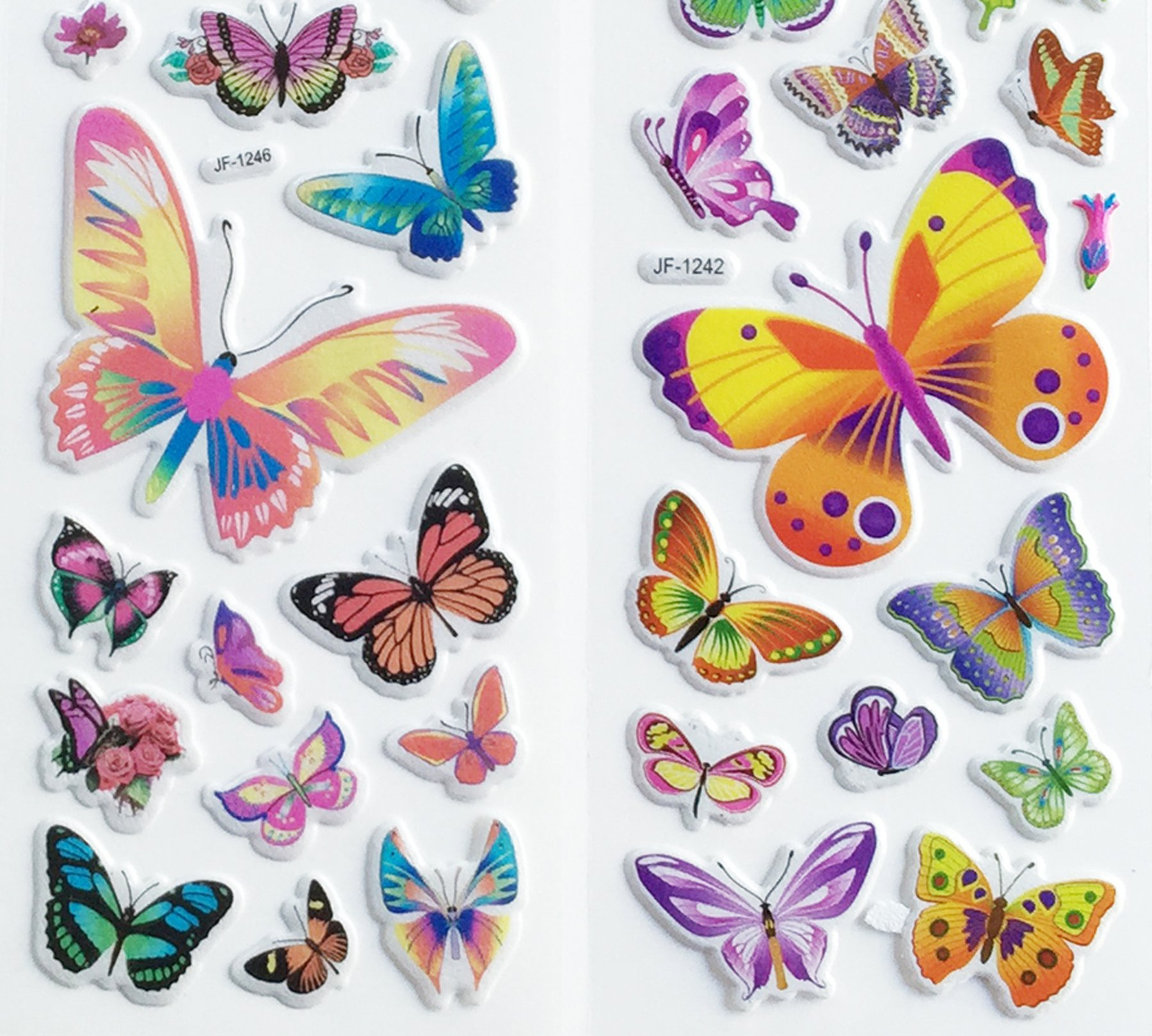 12 Sheets Butterfly Puffy Stickers by PIP