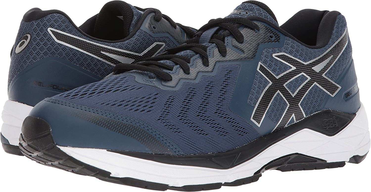 Running Men's 13 UsDark Asics 5 Foundation Gel Eeee Blueblackwhite Shoes7 mwO08Nvn