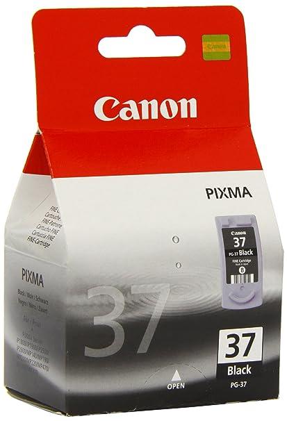 Canon PG-37 Cartucho de tinta original Negro: Amazon.es: Oficina y ...