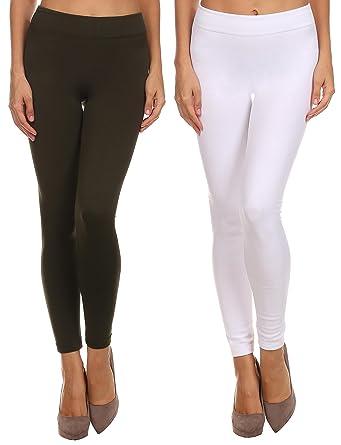 Seamless Fleece Lined Leggings for Women Warm Winter Stretch ...