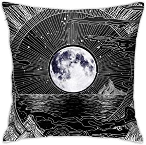 Mixcder Moon and Star Pillow Covers Sofa Home Decor Cushion Cases Pillowcases 18x18 Inch 45cm Comfortable and Fashionable