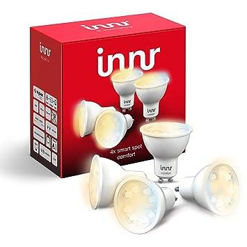 Innr GU10 LED spot, conectada, ajustable en blanco 2200K: Amazon.es: Electrónica