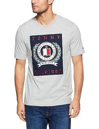709cd396 TOMMY HILFIGER Tommy Hilifiger Men's Crest T-Shirt: Amazon.com.au ...