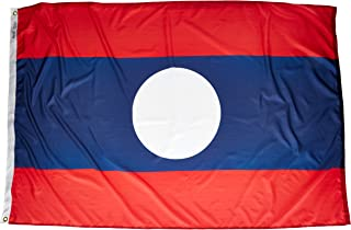product image for Annin Flagmakers Model 194594 Laos Flag Nylon SolarGuard NYL-Glo, 4x6 ft, 100% Made in USA to Official United Nations Design Specifications