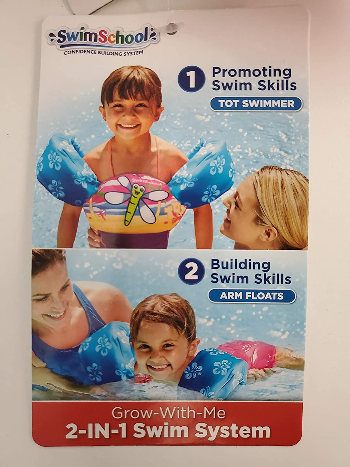Tot Swimmer with Arm Floats 2 in1 Swim System
