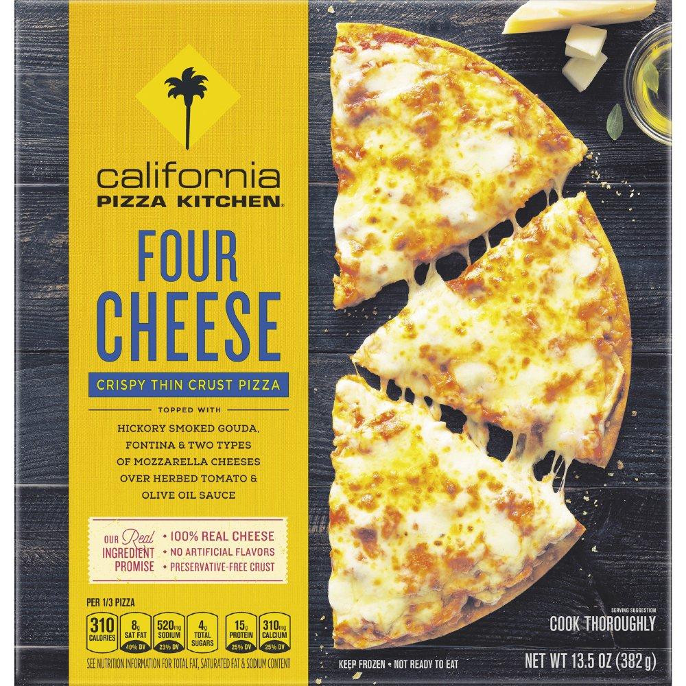 california pizza kitchen four cheese crispy thin crust frozen pizza rh amazon com
