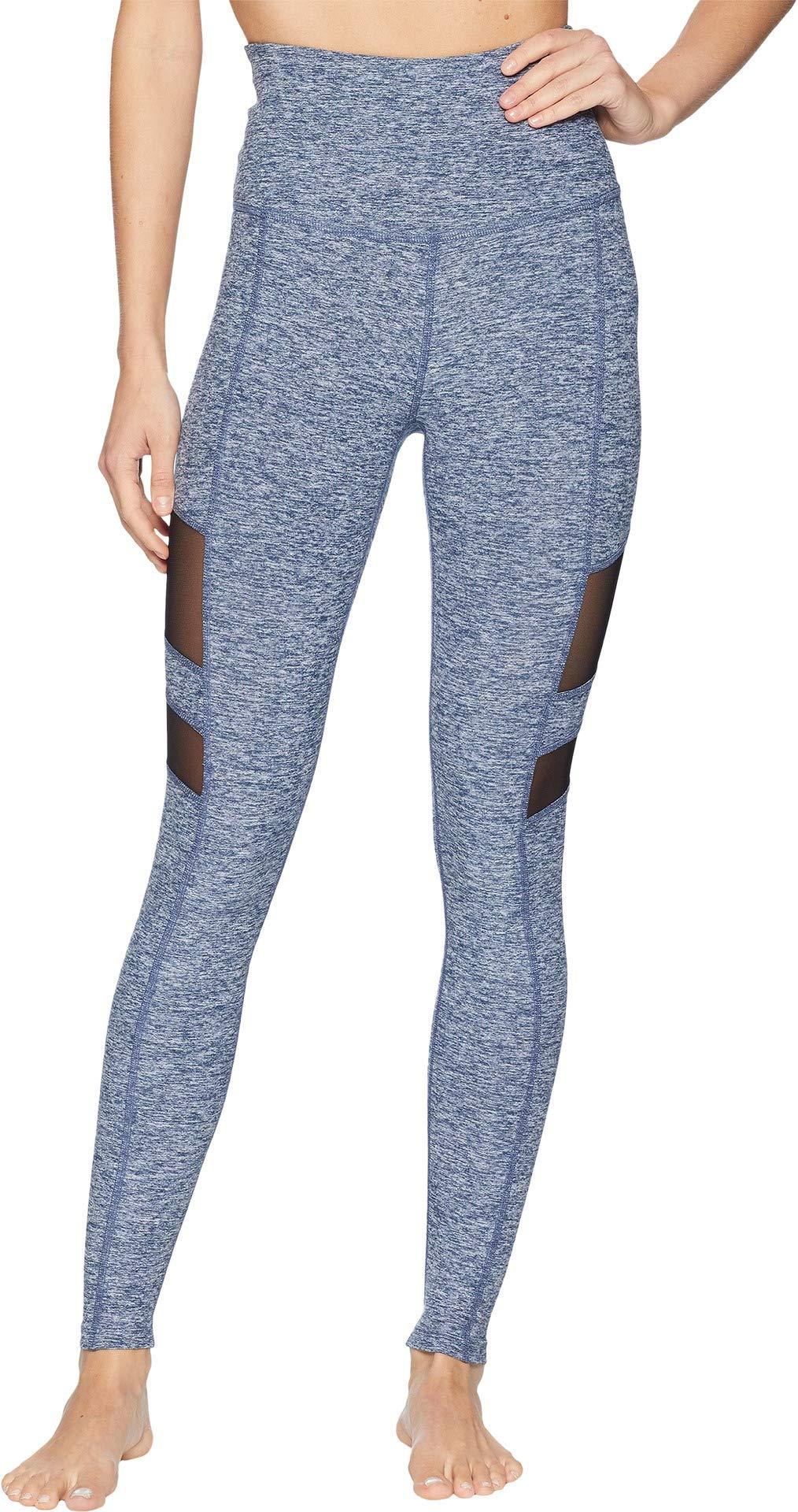 Beyond Yoga Women's Spacedye Rise Above Long Leggings White/Outlaw Navy X-Small 27.5 27.5