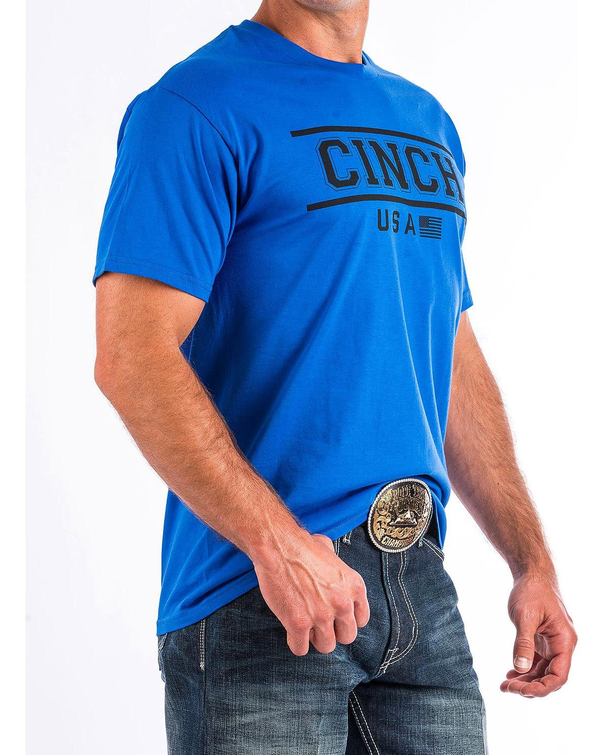 Cinch  Men's Short Sleeve Jersey Tee Blue X-Large by Cinch (Image #2)