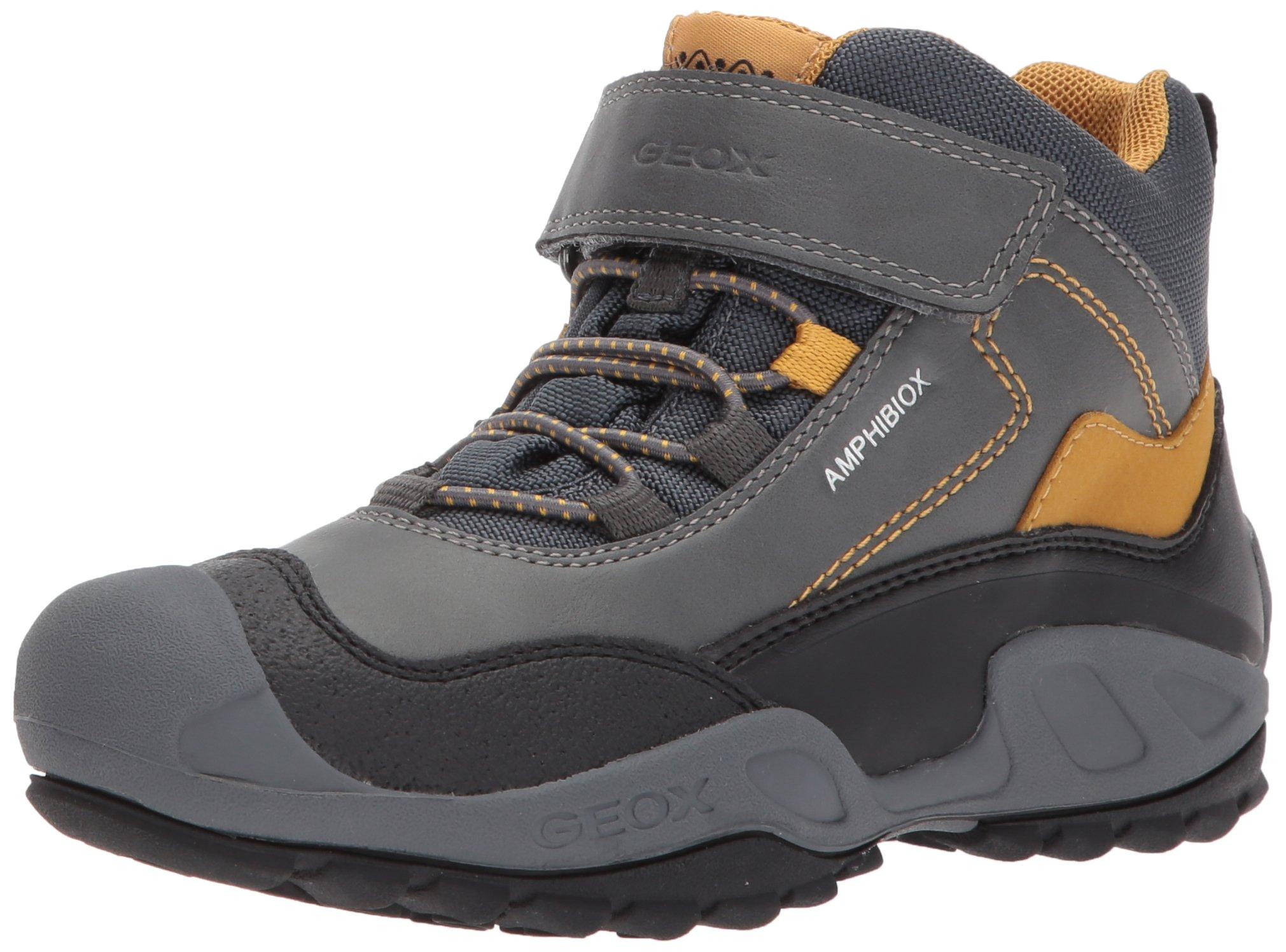 Geox Boys' New Savage Abx 4 Ankle Boot, Grey/Dark Yellow, 41 M EU Big Kid (7 US) by Geox