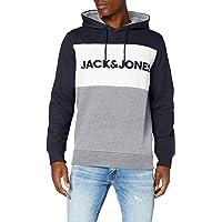 Jack & Jones Men's JJELOGO BLOCKING SWEAT HOOD STS Hoodie Sweatshirt