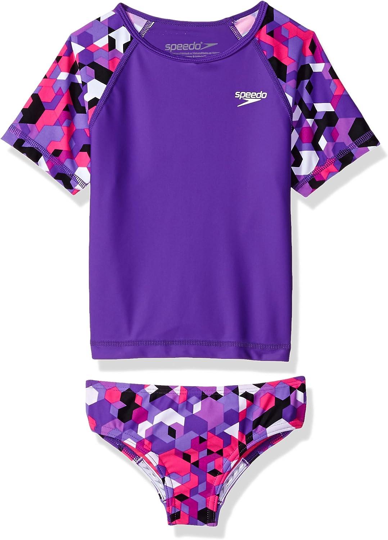 Speedo Girls Uv Swim Shirt Short Sleeve Rashguard Set - Manufacturer Discontinued