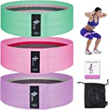 GLOUE Exercise Resistance Bands for Women, Upgrade Thicken Anti-Slip & Roll Workout Booty Bands, Mini Hip Circle Loop…