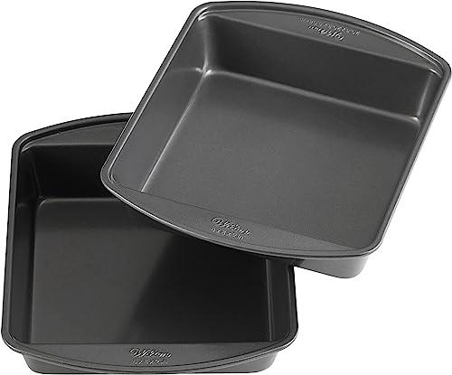Wilton Perfect Results Premium Non-Stick 8-Inch Square Cake Pans