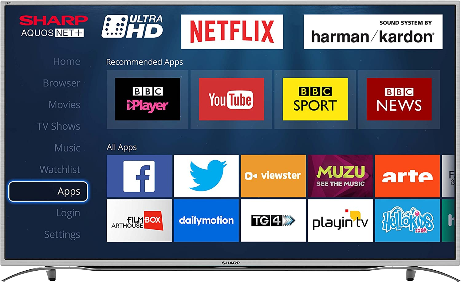 Sharp 55-h Ultra HD 4k led Smart TV con TDT HD, Silver: Amazon.es: Electrónica