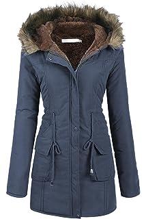 Femmes Manches À Col Fourrure Mymotto Vêtement L'hiver Capuche De LzUMpqSGV