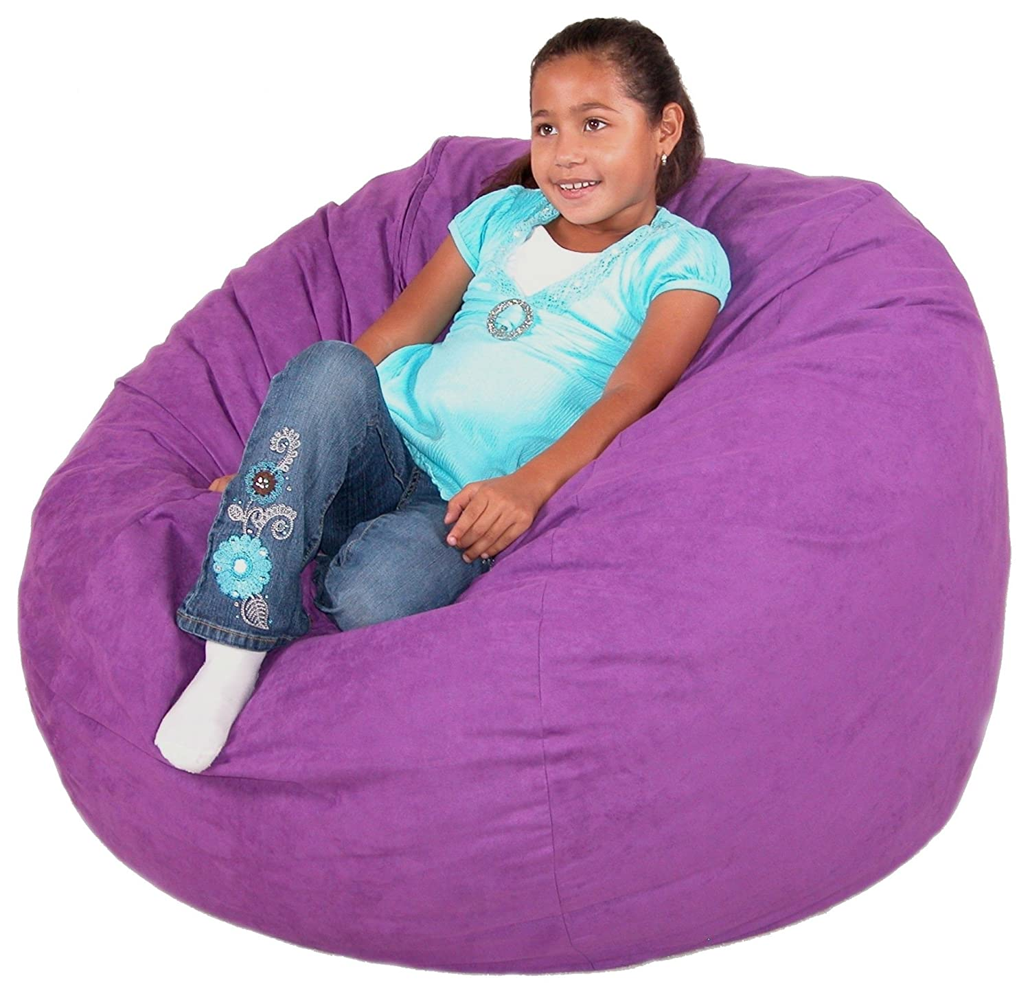 Amazon Cozy Sack 3 Feet Bean Bag Chair Medium Purple Kitchen Dining