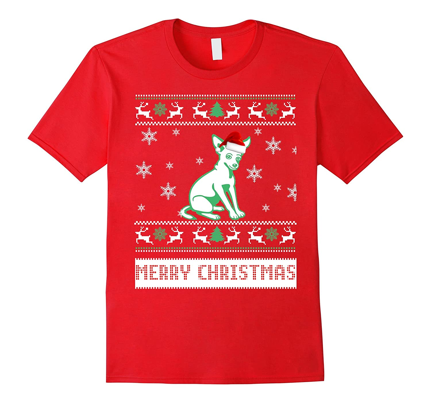 Chihuahua In Show Ugly Christmas T-Shirt-Art