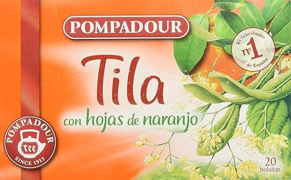 Pompadour Infusión Tila con Hojas de Naranja - 20 Bolsitas