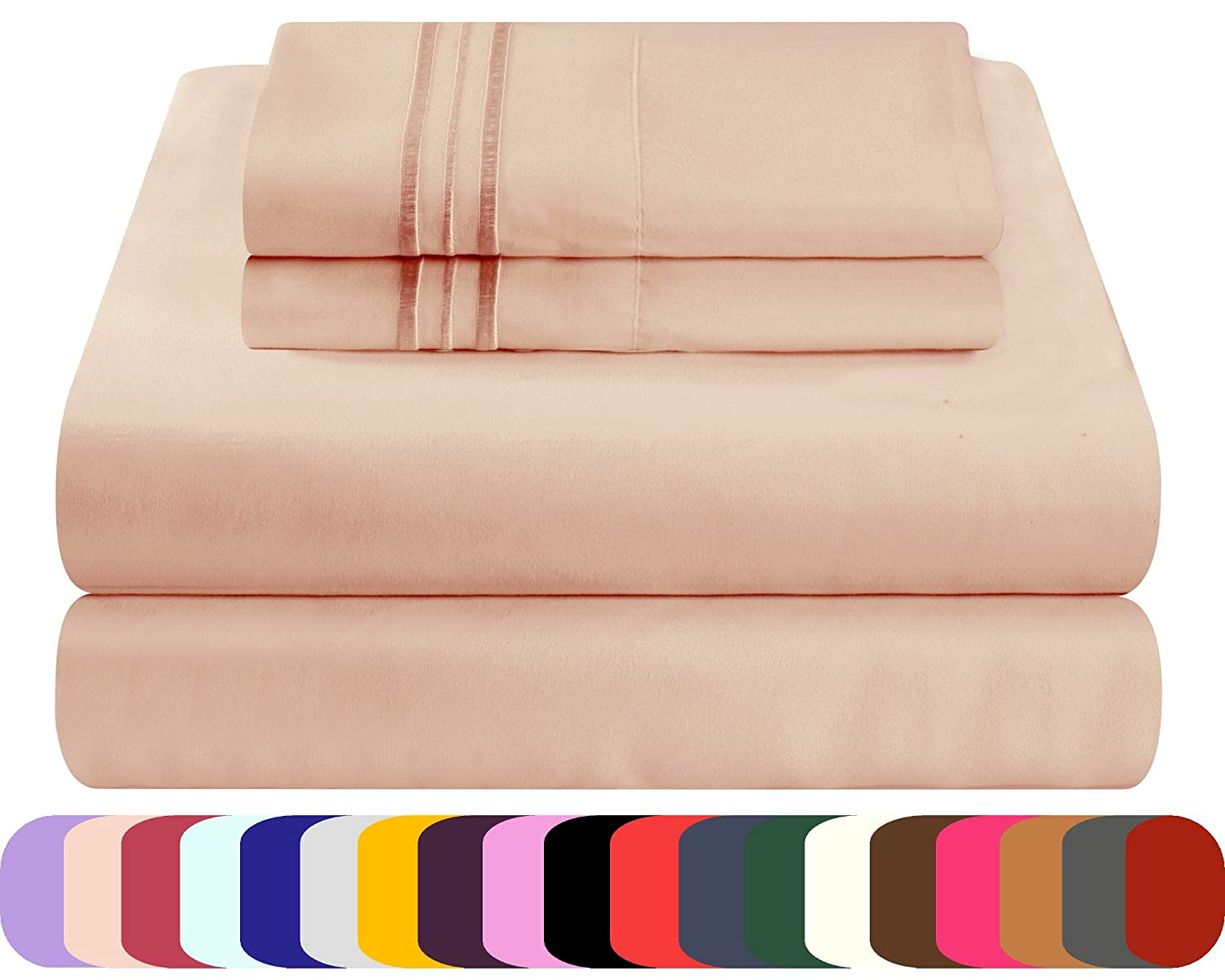 Mezzati Luxury Bed Sheets Set - Sale Cappuccino, Cal King