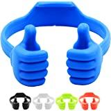 Honsky Thumbs-up Cell Phone Stand, 5 Packs Universal Flexible Multi-Angle Cute Desk Phone Holder, Compatible with iPhone iPad Mini Tablet Android Smart Cellphone Travel, Blue Black Green White Pink