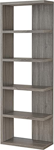 Deal of the week: Coaster Home Furnishings 5-Tier Semi-Backless Bookcase Weathered Grey