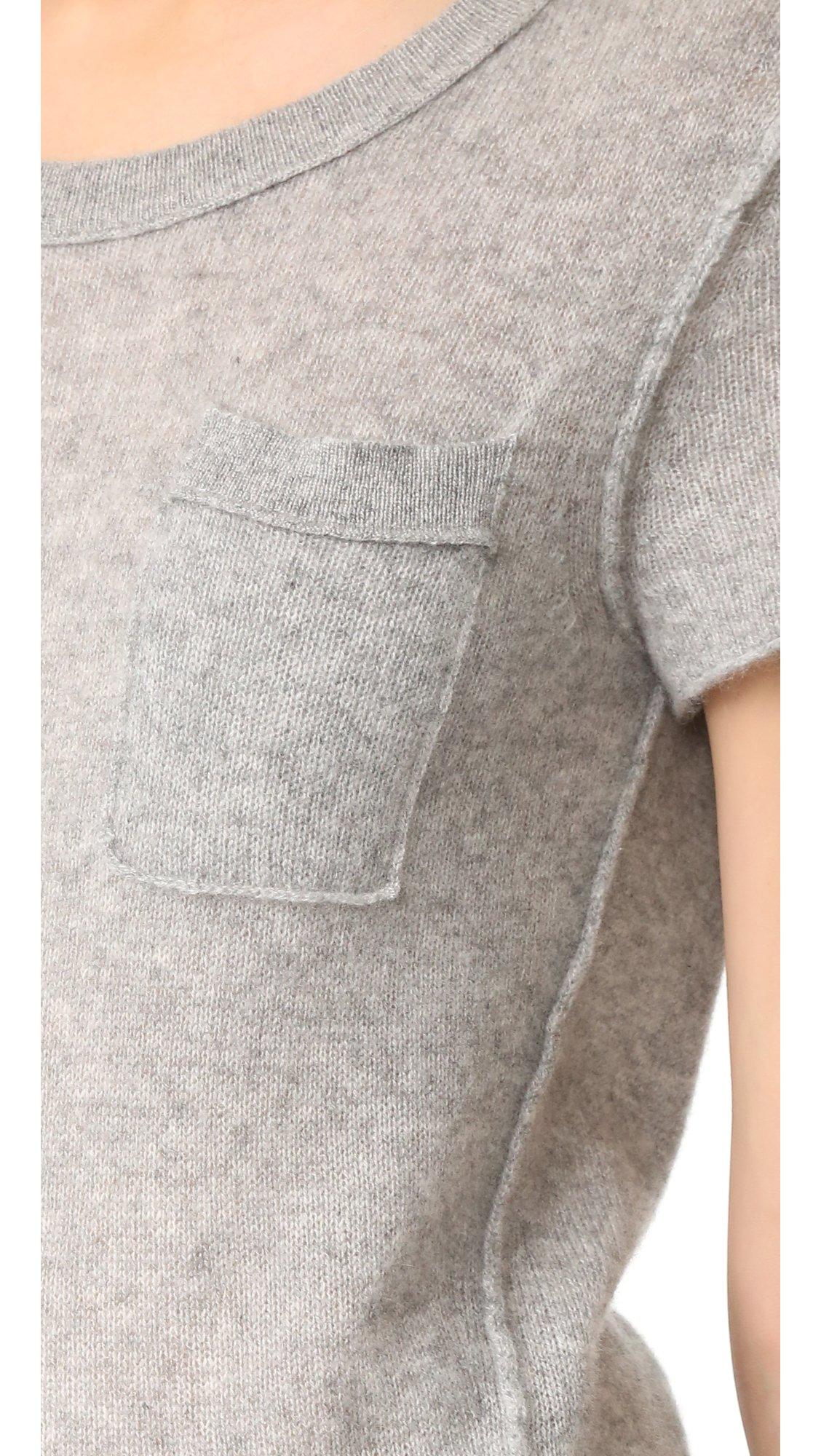 White + Warren Women's Cashmere Essential Pocket Tee, Grey Heather, Medium by White + Warren (Image #5)
