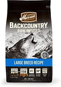 Merrick Backcountry Raw Infused Grain Free Dry Dog Food Large Breed Recipe - 12.0 lb Bag