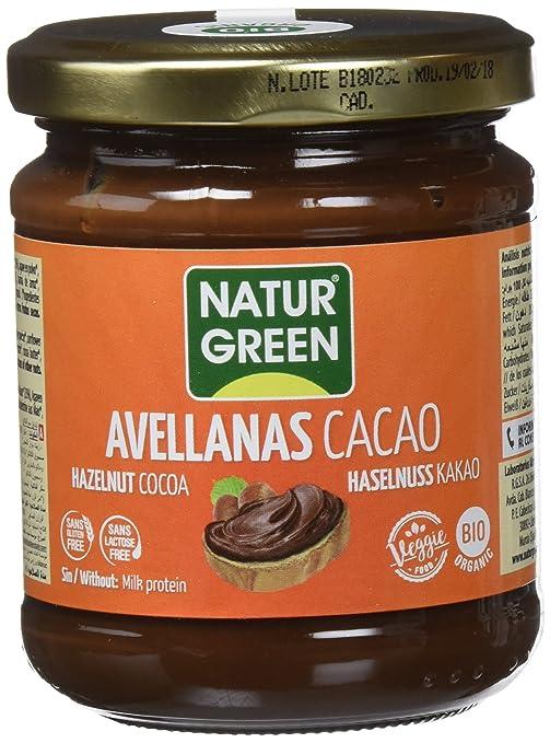 NATURGREEN CREMA AVELLANAS CHOCO SIN LECHE 200 gr