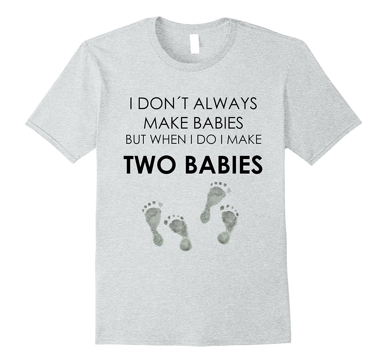 f07a1fdf2 Cute Expecting Twins T-shirt Fun Pregnancy Announcement Tee-RT ...