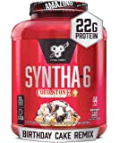 BSN Syntha-6 Whey Protein Powder, Cold Stone Creamery- Birthday Cake Remix Flavor, Micellar Casein, Milk Protein Isolate…