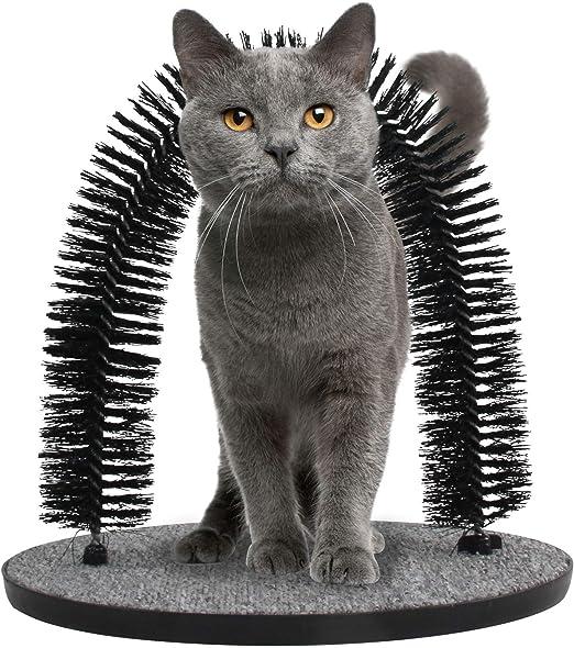 Pet Prime Arch Peluquero para Gatos, Juguete para Gatos, masajeador y rascador de Pelo, Cepillo para Gato, rascador de Gato, Juguete para Mascotas: Amazon.es: Productos para mascotas