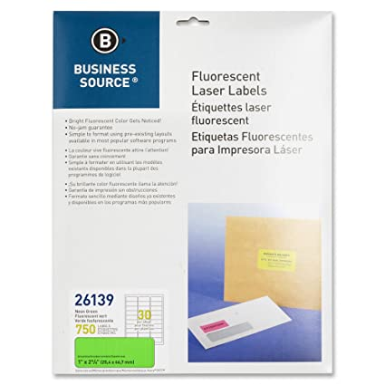 Amazon.com : Business Source Green Fluorescent Laser Labels ...