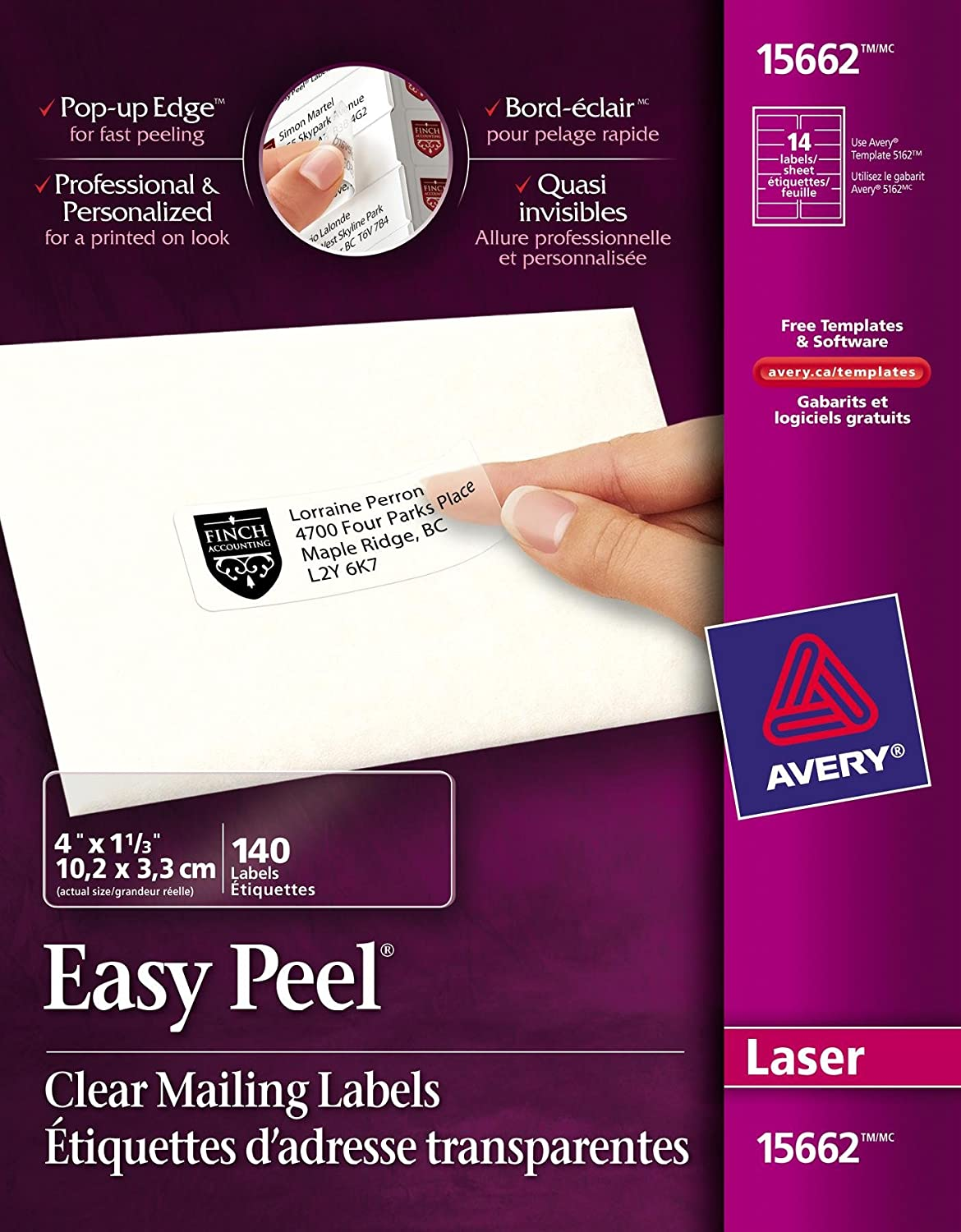 amazon com avery easy peel mailing labels for laser printers 1 1
