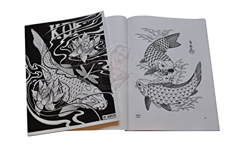Tatuaje-libro - Koi japonés de Horimouja (Japanese Koi Tattoo Book ...